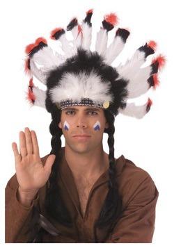 Tocado indio americano emplumado
