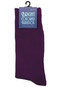 Calcetines morados para hombre
