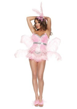 Disfraz de flamenco rosa sexy
