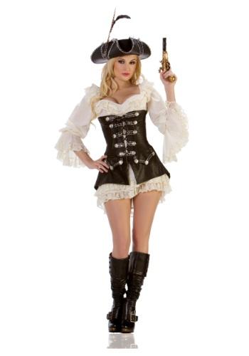 Disfraz de pirata rojo sexy