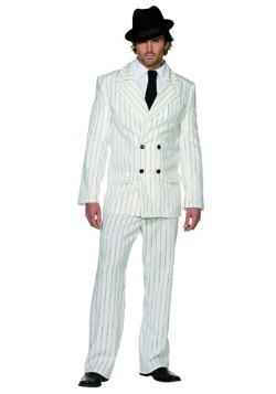 Disfraz de gángster blanco para hombre