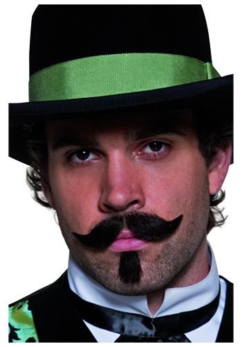 Bigote y barba de apostador del Oeste