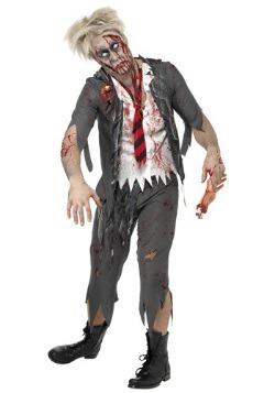 Disfraz de niño de escuela zombi