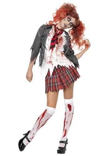 Vestido de colegiala zombie