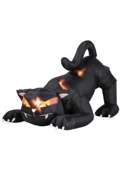 Gato inflable con cabeza móvil