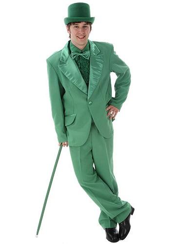 Disfraz de esmoquin verde para hombre