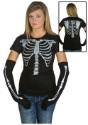 Camiseta de esqueleto para mujer