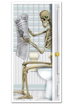 Cubierta para puerta del baño de esqueleto