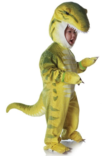 Disfraz infantil de T-Rex verde