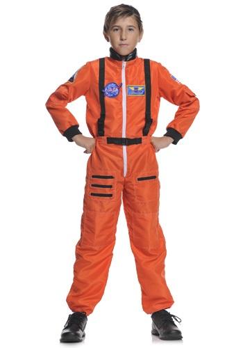 Disfraz infantil naranja de astronauta