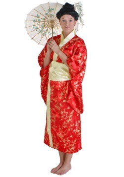Kimono rojo para mujer