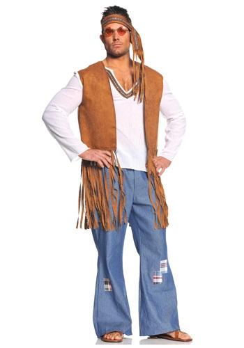 Disfraz hippie Right On talla extra
