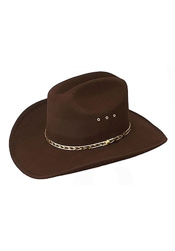 Sombrero de vaquero café