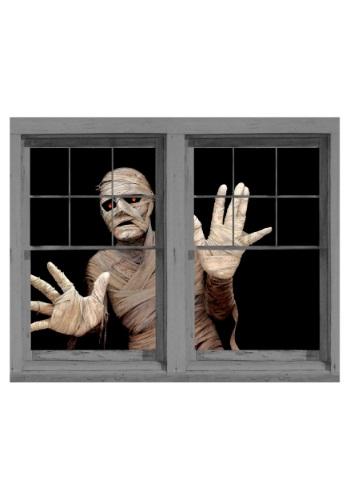 Adorno adherible doble para ventana de momia amenazante