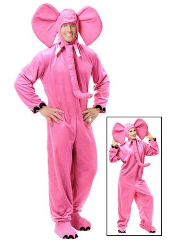 Disfraz de elefante rosa para adulto