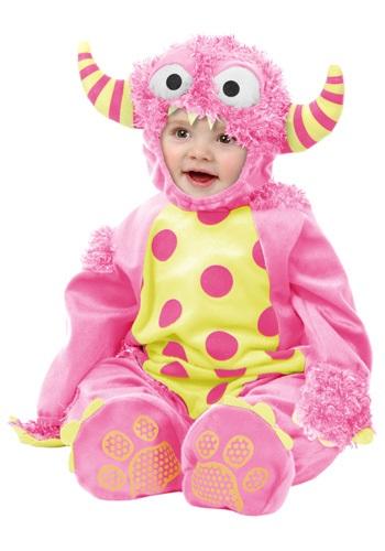 Disfraz de mini monstruo rosa para bebé