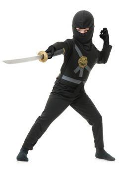Disfraz infantil de maestro ninja negro