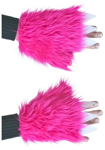 Fundas para mano de pelo sintético de color rosa vivo adulto
