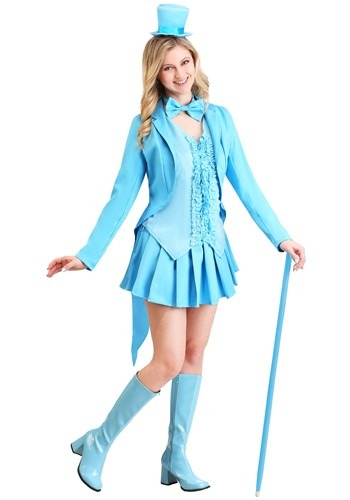 Disfraz de esmoquin azul sexy