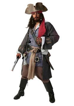 Disfraz de pirata caribeño realista de talla extra