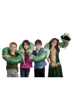 Marioneta de serpiente verde para brazo