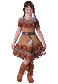 Disfraz de doncella india infantil