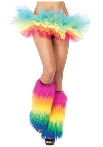 Tutú de organza arcoíris