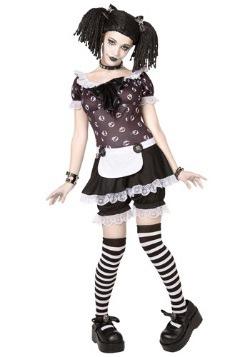 Disfraz de muñeca de trapo gótica talla extra