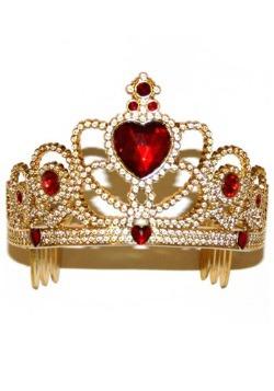 Corona de princesa rojo y oro