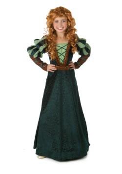 Disfraz de princesa valiente del bosque