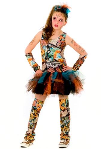 Disfraz de chica grafiti Tween