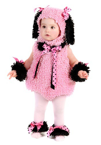 Disfraz de poodle rosa para bebé