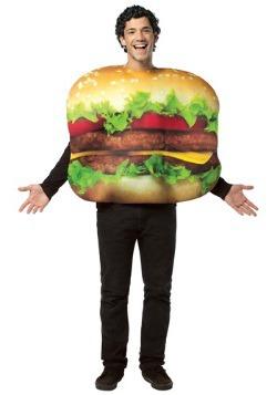 Disfraz de hamburguesa con queso para adulto