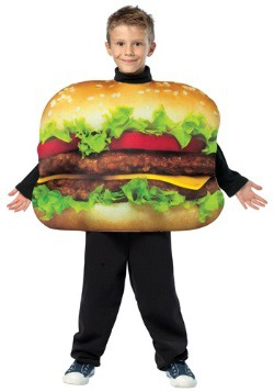 Disfraz infantil de hamburguesa con queso
