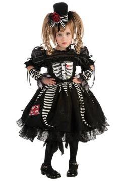 Disfraz de huesos para niñas