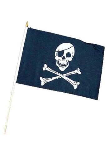 Bandera de pirata con calavera y huesos cruzados