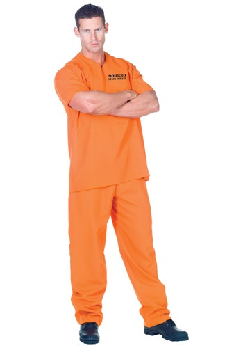 Traje de preso de delincuente público talla extra