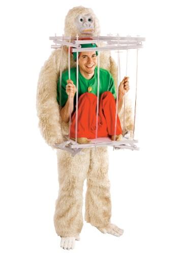 Kit de disfraz de abominable muñeco de nieve y jaula