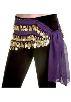 Pañuelo morado de cadera de bailarina de vientre