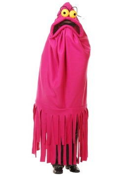 Disfraz de monstruo demente rosa para adulto