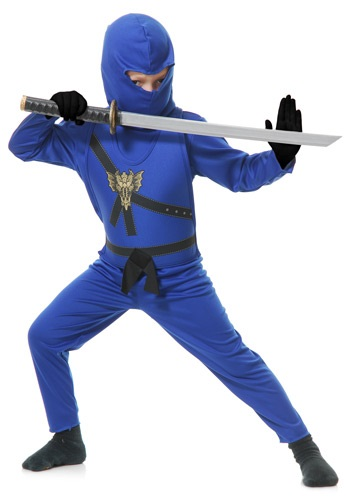 Disfraz Maestro Ninja azul para niños