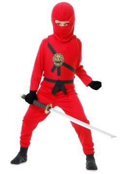 Disfraz infantil de Maestro Ninja Rojo