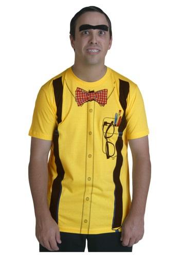 Camiseta amarilla de nerd clásica