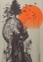 Camiseta de resaca árbol humano
