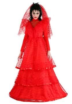 Vestido de novia gótico rojo -1
