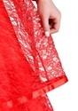 Women's Red Gothic Wedding Dress Alt 2