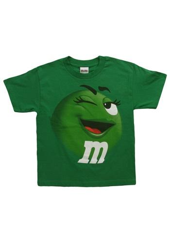 Camiseta de M&M verde Jumbo para niños