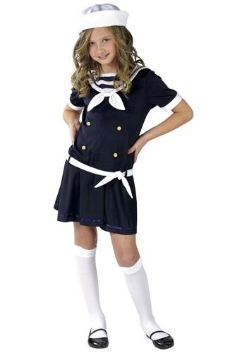 Disfraz de marinero naval para niñas