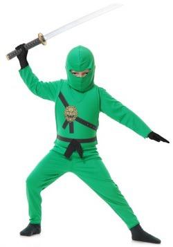Disfraz de ninja verde infantil