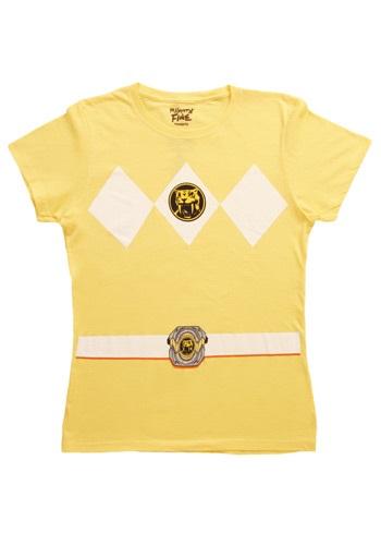 Camiseta amarilla Power Ranger Disfraz Mujer